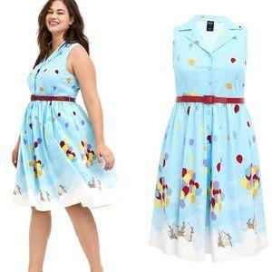 14 16 18 20 22 Torrid Disney Belted Up Pixar Dress